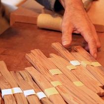 箸作り体験 材料選び