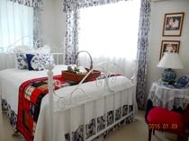 ブルー&ホワイトの部屋。人気のベットルームです