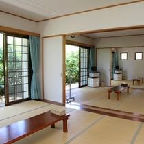 3室広げた和室の部屋。 個室での利用も可能!