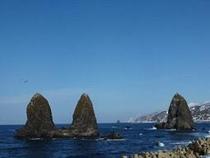 近年注目を浴びるパワースポット、名勝・三本杉岩です