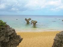 「嵐」のCMのハートロックビーチ