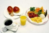 無料朝食バイキング 洋食盛付例