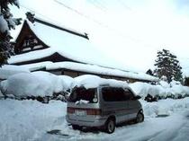冬の惣助 2月に雪が積もるとあたりが真っ白でまぶしいです。
