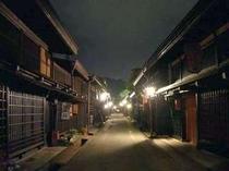 飛騨高山 夜の上三之町