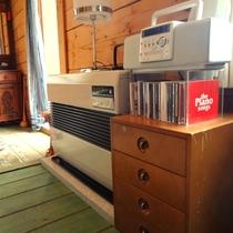 CDプレーヤー、ストーブなどお部屋設備
