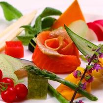 2015夏会席 鮮魚と野菜のお造り グレードアップ