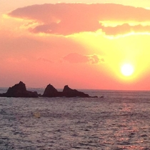 真鶴岬の初日