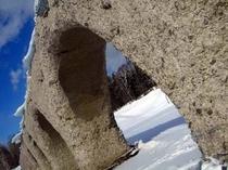 冬のタウシュベツ川橋梁