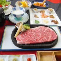 【ご当地牛コース】やっぱりご当地牛が食べたい♪佐賀県産の牛ステーキ250g★