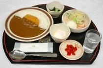 無料夕食カレー定食
