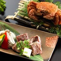 ◆石子鍋毛ガニ&サーロイン