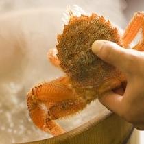 名物『活毛蟹の石子鍋』