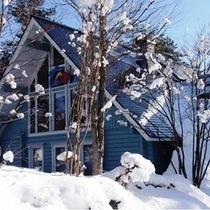 冬のフィンランドハウス