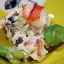スタンダード夕食 小鉢(海老と空豆の白和え)イメージ