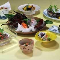 地元産伊勢海老付(お1人様に1尾)プラン夕食例
