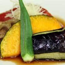 スタンダード夕食 煮物(金目鯛と季節野菜の炊き合わせ)イメージ