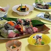 獲れたてアワビ入り天然地魚お造り盛り合わせプラン♪夕食例