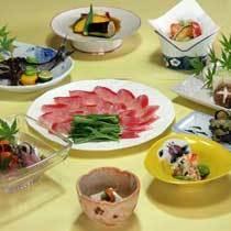 近海産日戻り極上「金目鯛」プラン夕食例 画像はしゃぶしゃぶ