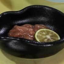 朝食 イカ塩辛