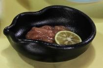 【ご朝食 一例】・・・南伊豆の田舎風朝ごはん ≪塩辛≫