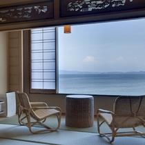 ≪和室10帖≫紀淡海峡を一望する眺望抜群のオーシャンビュールーム