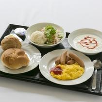 無料朝食サービスは、洋食派の方にもご満足頂ける内容です!