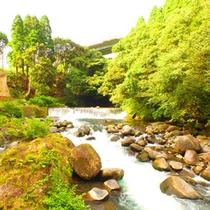 登山口温泉周辺の神水峡
