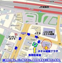 地図:駐車場