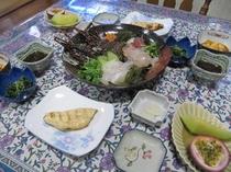 夕飯(特別メニュー:イセエビ)