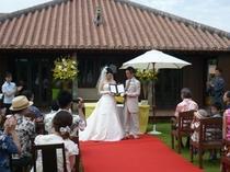 別邸での結婚式1