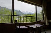 錫杖岳、笠ヶ岳を望む客室8畳
