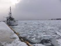 稚内港の流氷