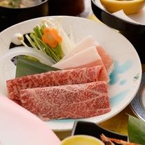 前沢牛と花巻産白金豚の食べ比べ・車海老鎧焼 ダブルメインのお得膳(2017年3~5月) ※イメージ
