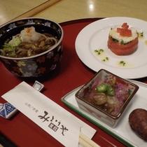 ご夕食(前菜・そば)