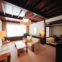 【リビング付和室】リビング付の特別室は、優雅な時間を過ごすのに最適です!