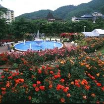 花巻温泉「バラ園」は宮沢賢治が設計した南斜花壇の跡地に開園しました