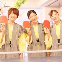 【グループ旅行&卒業旅行】選べる特典A)卓球50分無料