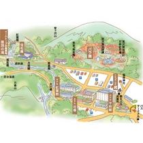 花巻温泉 園内マップ