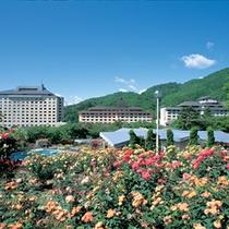 東北屈指のバラ園で6,000株のバラが6月上旬より10月中旬まで鮮やかに咲き続けます