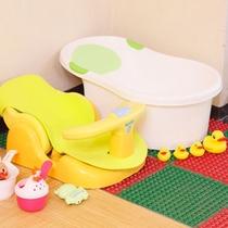 赤ちゃんと一緒でも安心!ベビーバスチェアを男女大浴場に用意。温泉も刺激が少なく体にやさしい泉質です♪