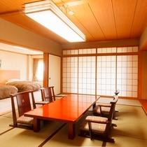 【和洋室】和室12畳+ツインルーム