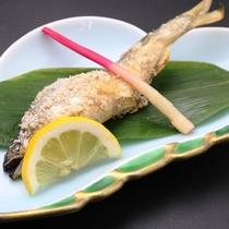 夕食_鮎塩焼き