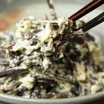 料理-ワラビの白和え