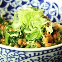 料理-野沢菜納豆