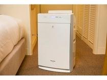 全室に設置の加湿機能付空気清浄機
