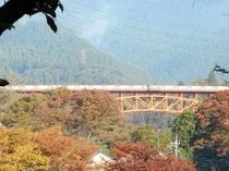 「おくたま路」散策路から見える奥多摩橋