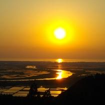 *【眺望(夕景)】美しい景色に心がほっと癒されます。