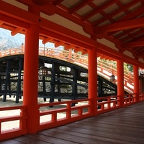 厳島神社 西回廊 反橋_★