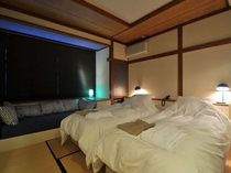 スタンダードスタジオの客室の一例(ブルー)