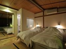 スタンダードスタジオの寝室の一例(グリーン)